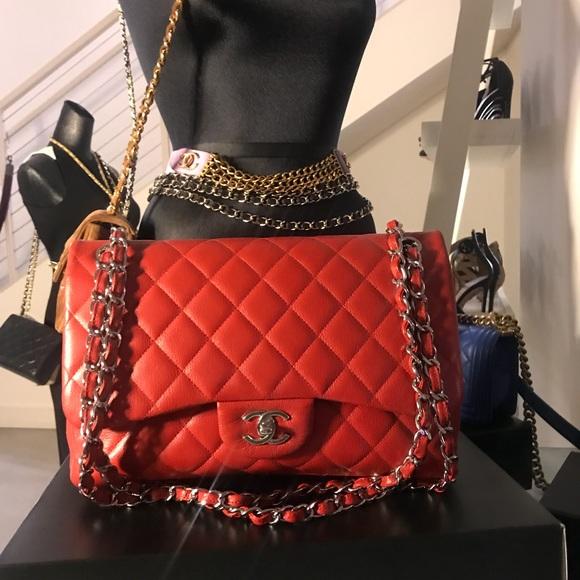 33e05260c0b4 CHANEL Bags | Sold Classic Red Caviar Jumbo Double Flap | Poshmark